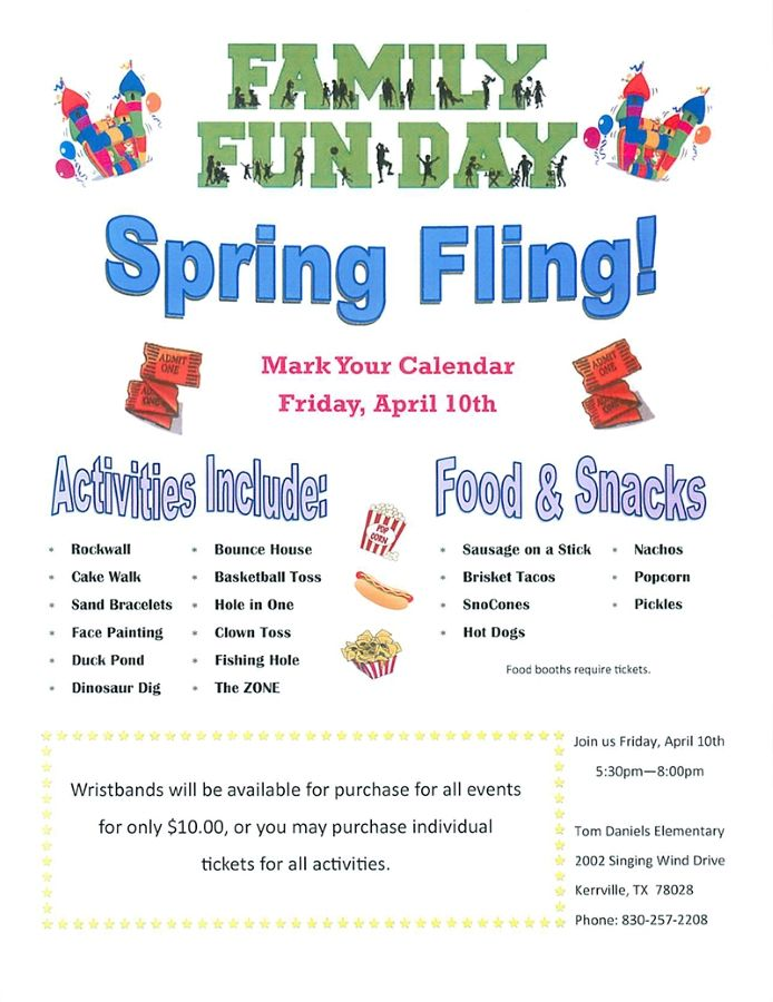 School Spring Fling Flyer Template  Google Search  Spring Fling