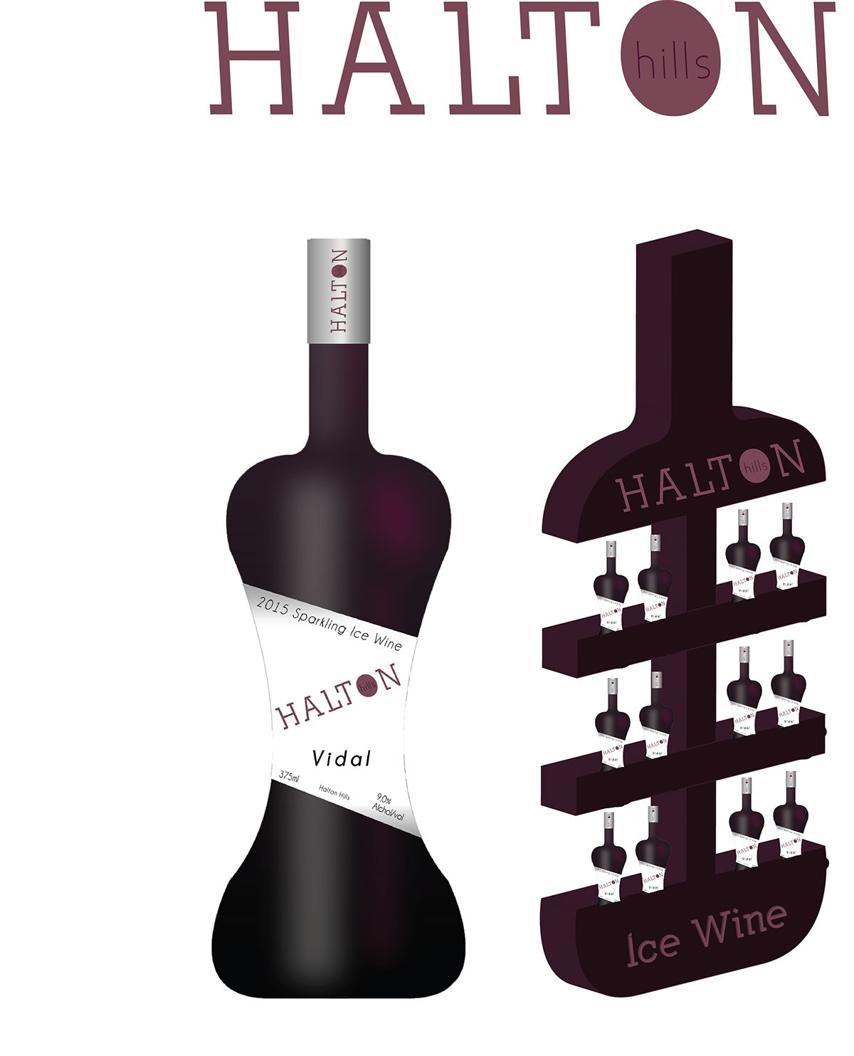 Wine Bottle and P.O.P Design (Student Work) on Behance