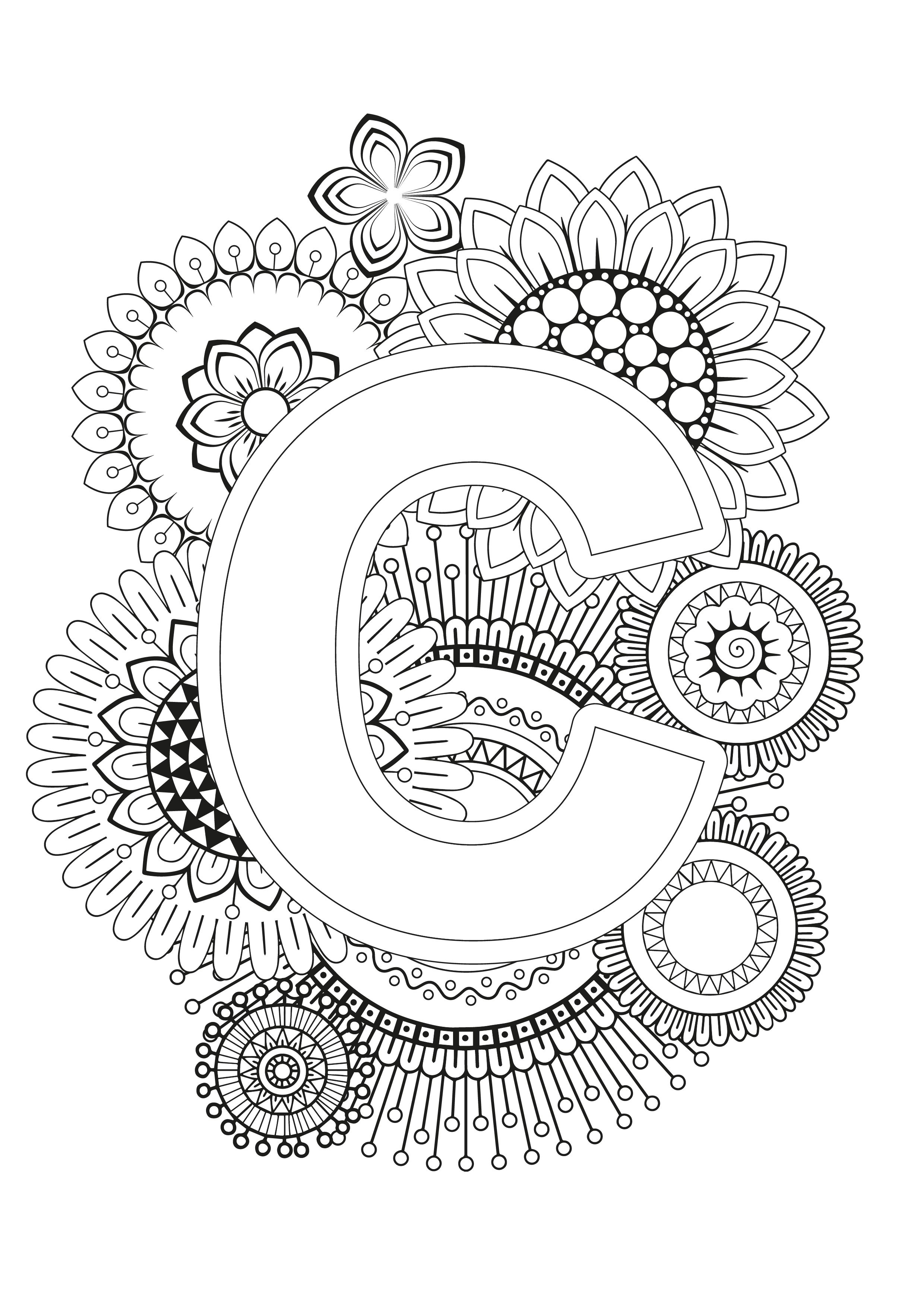 Mindfulness Coloring Page Alphabet Coloring Pages Coloring