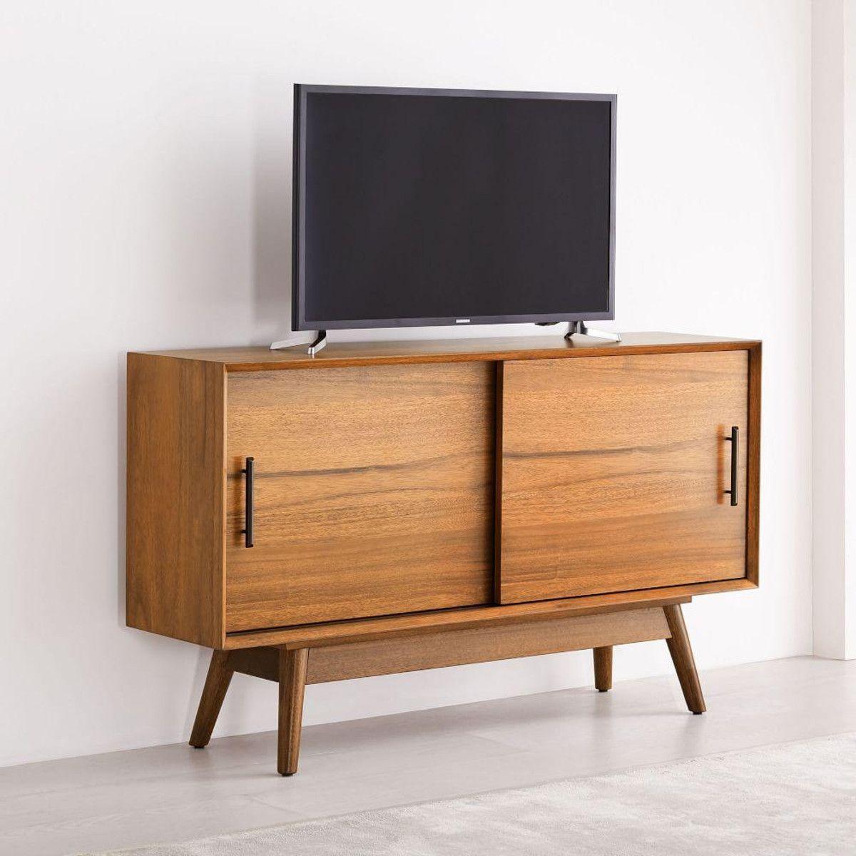 Best Mid Century Narrow Media Console 122 Cm Furniture 60S 400 x 300