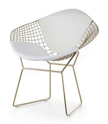 Bertoia Diamond Chair. Gold Bertoia Diamond Chair.