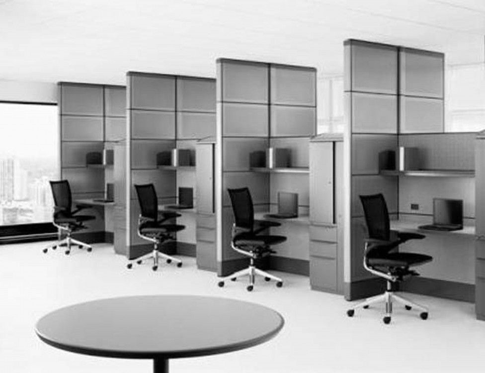 Interior , Various Contemporary Minimalist Open Office Desk Layout Ideas  For Providing Conducive Working Space And Preserving Corporate Culture :  Cool ...