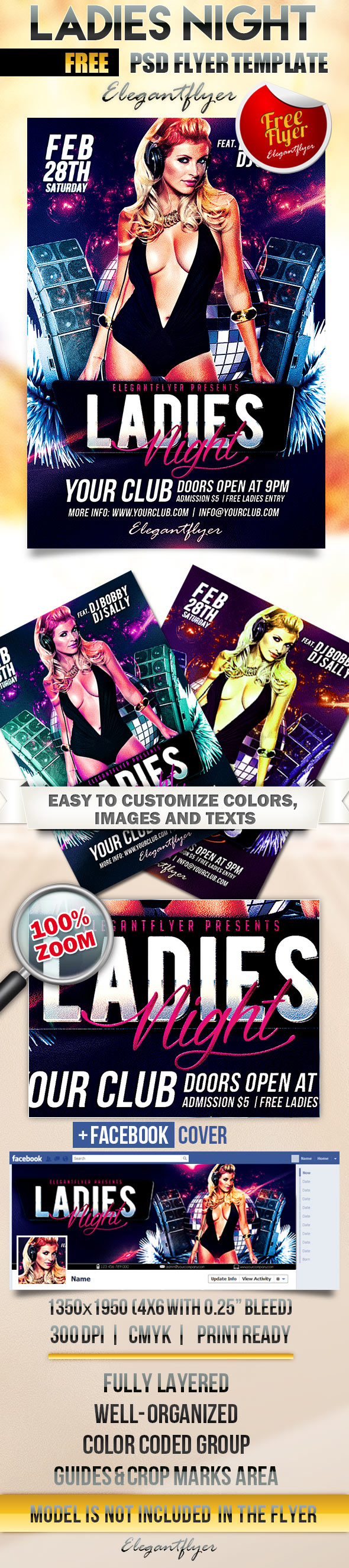 Free Flyer Template For Ladies Night Ladies Night Free Flyer