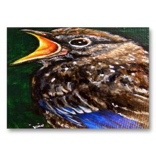 Voz Joven (Bluebird del bebé) de comercio del arte Tarjeta de visita Tarjetas