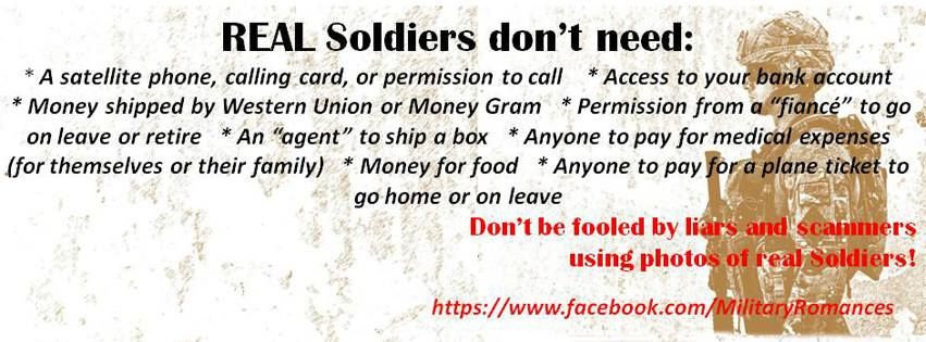 Military dating scams format