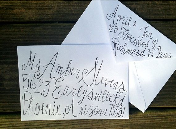 Handwritten Calligraphy For Party Or Wedding By Poppyspen On Etsy 1 25 Handwritten Wedding Invitations Wedding Invitation Envelopes Handwritten Wedding