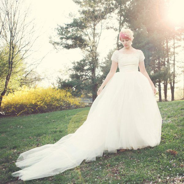 """Check out today's blog post on """"Wedding Dresses under 250"""" - part of our Planning an Inexpensive Wedding series!  :: Photo and dress (which is available for sale) by http://whichgoose.etsy.com"""