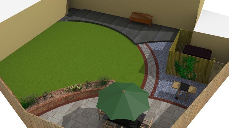 Sketchup garden designs | Garden design, Modern garden ...
