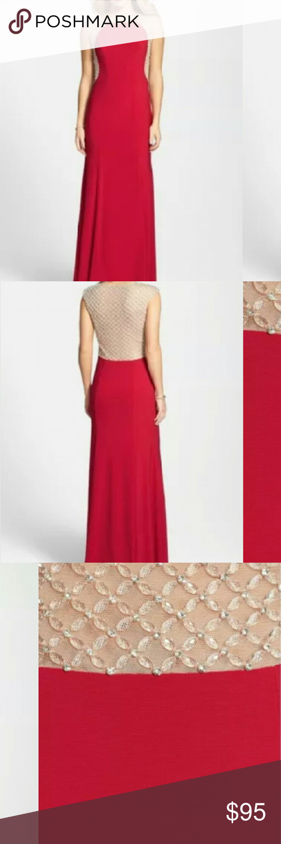 Xscape Beaded Full Length Prom Dress New with tags, beaded, full length Xscape Dresses Prom