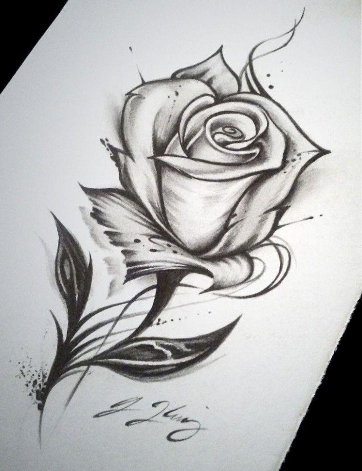 Mit dornen zeichnen rose Einsteigerleitfaden zum
