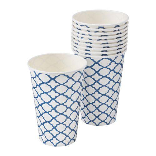 SOMMAR 2016 Bicchiere monouso, bianco, blu
