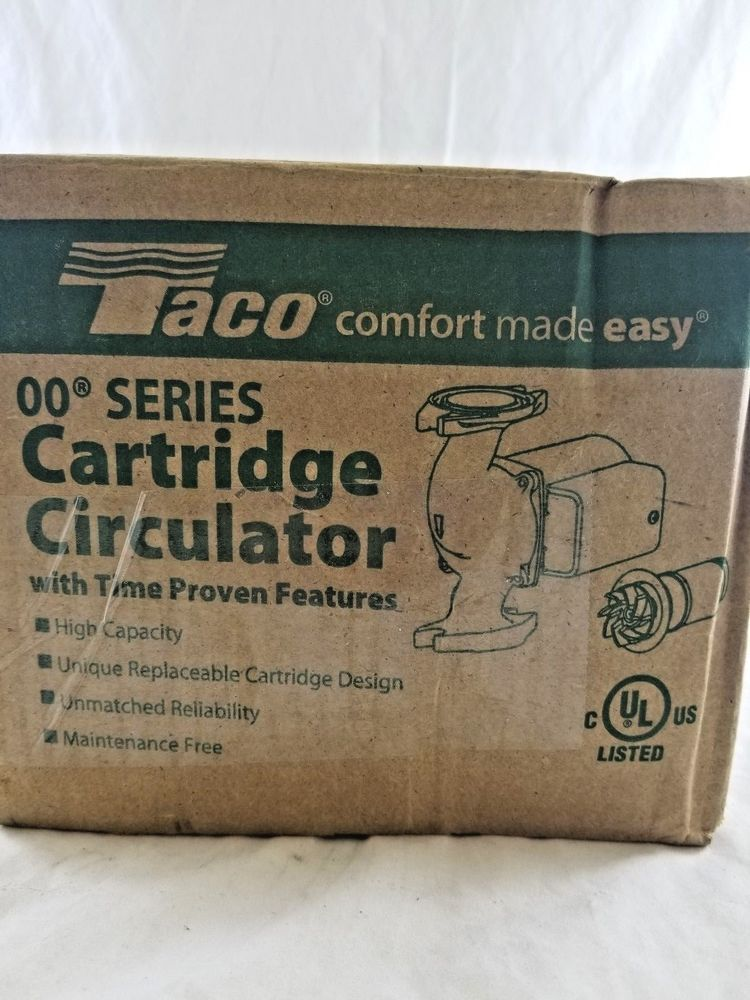TACO 007-F5 00 Series CARTRIDGE CIRCULATOR PUMP (eBay Link) HVAC