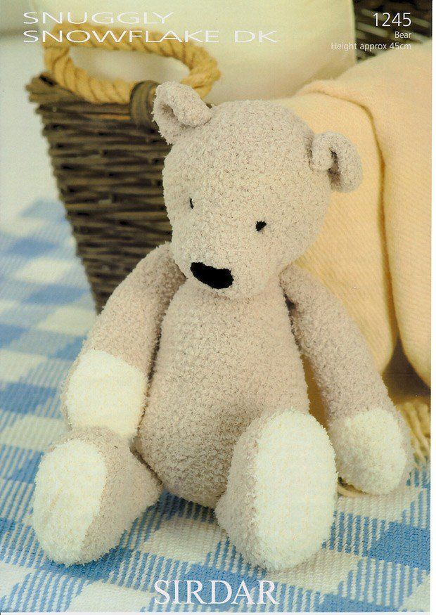 Ted The Bear In Sirdar Snuggly Snowflake Dk 1245 Knit Patterns