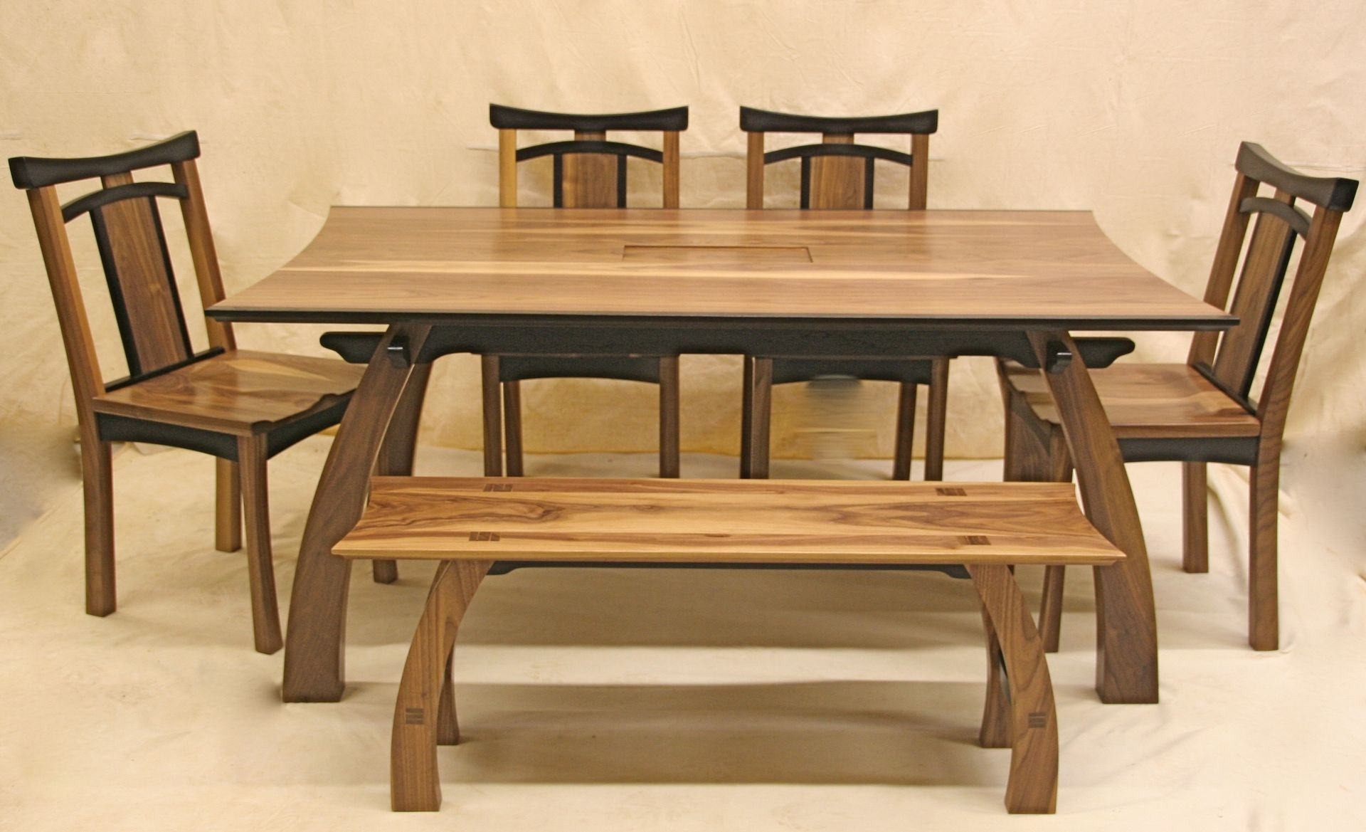 Classy Rectangular Wooden Japanese Dining Table With Dining Chairs Added  Single Benches As Decorate In Asian Dining Room Decors Views Part 35