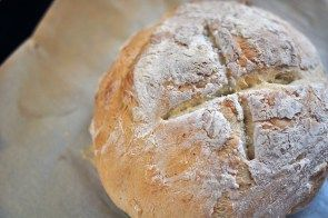 No-Knead Artisan Bread is a delicious option for Thanksgiving. -  Scarlett Collins -