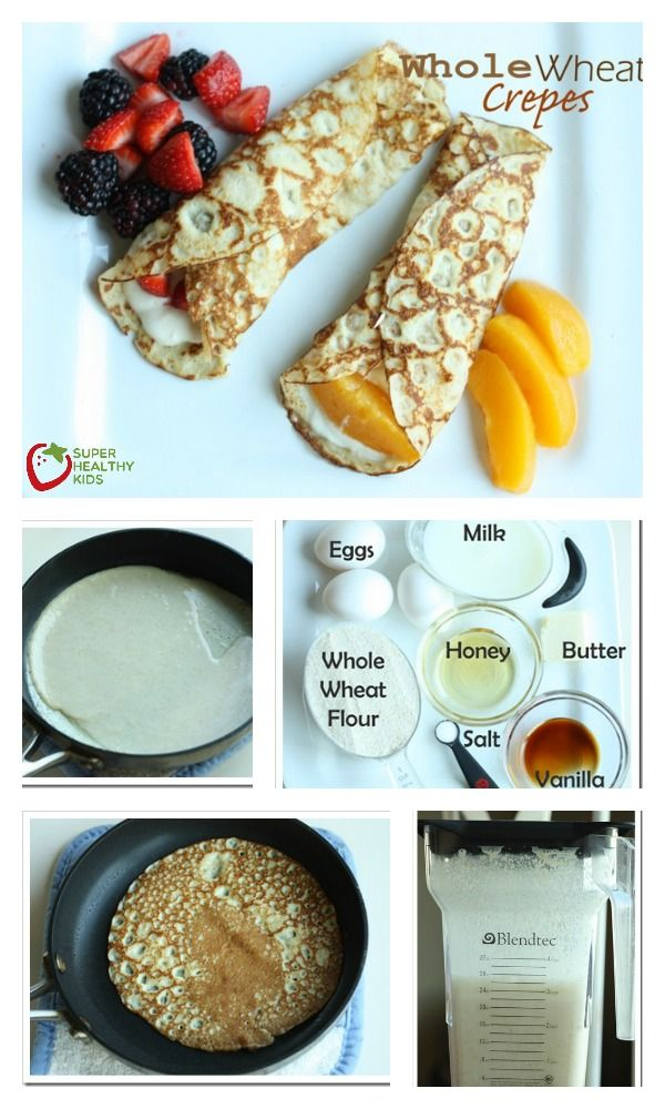 Crepes recipe wheat flour
