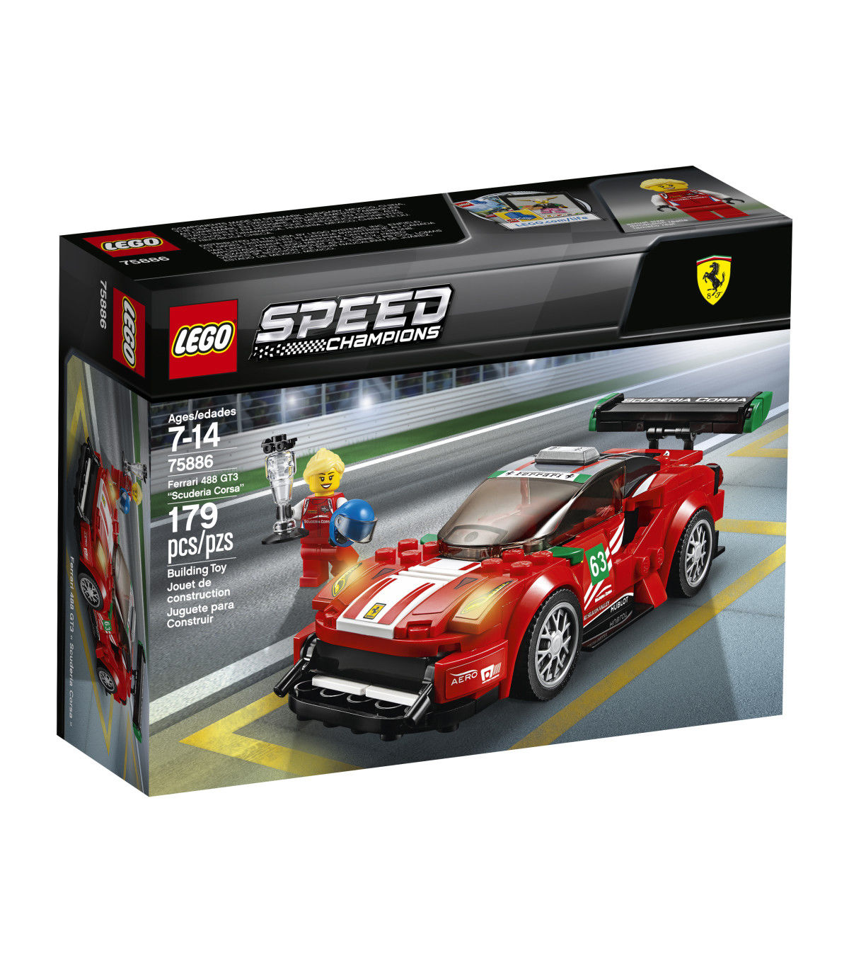 Ford Mustang GT Lego Speed Champions Racing Driver Match Play Toys Build Figures