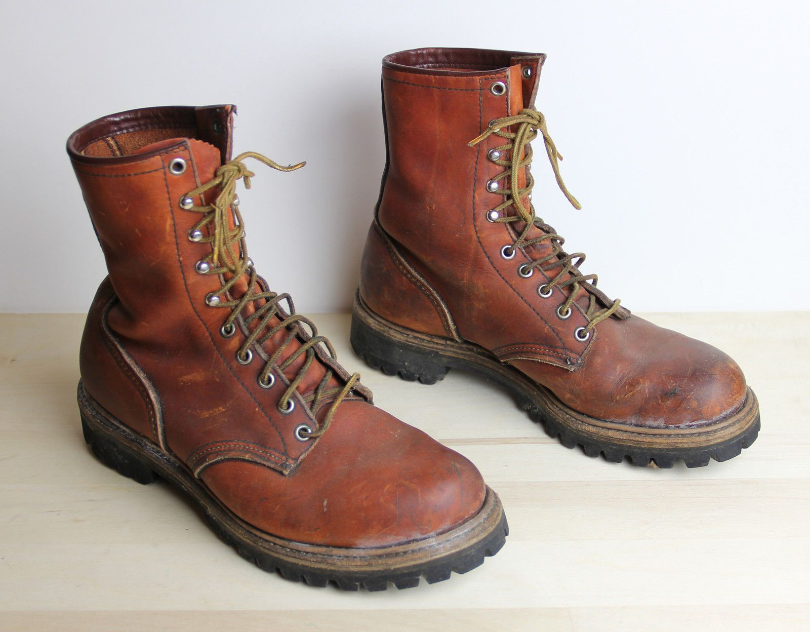 Vintage RED WING IRISH SETTER Boots Mens Size 8.5 D Hunting Hiking Made in  USA |
