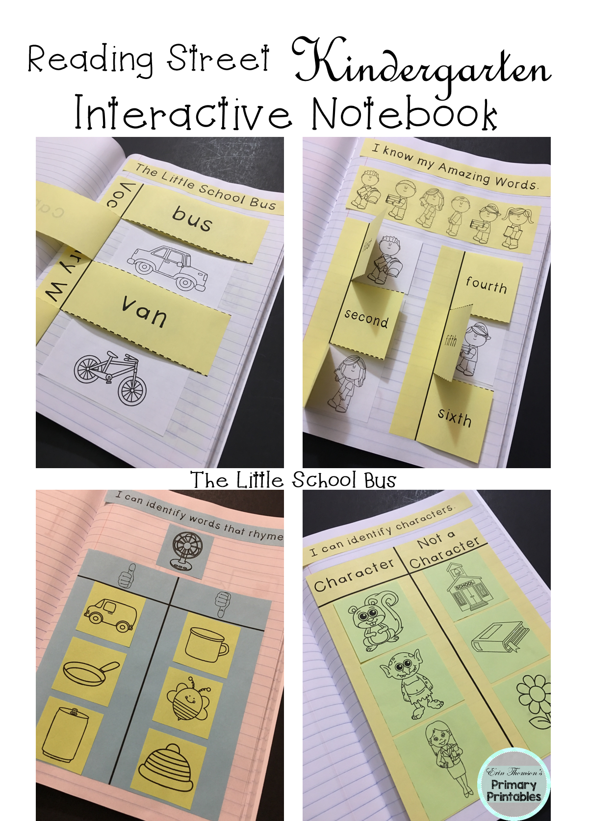 The Little School Bus Interactive Notebook Reading