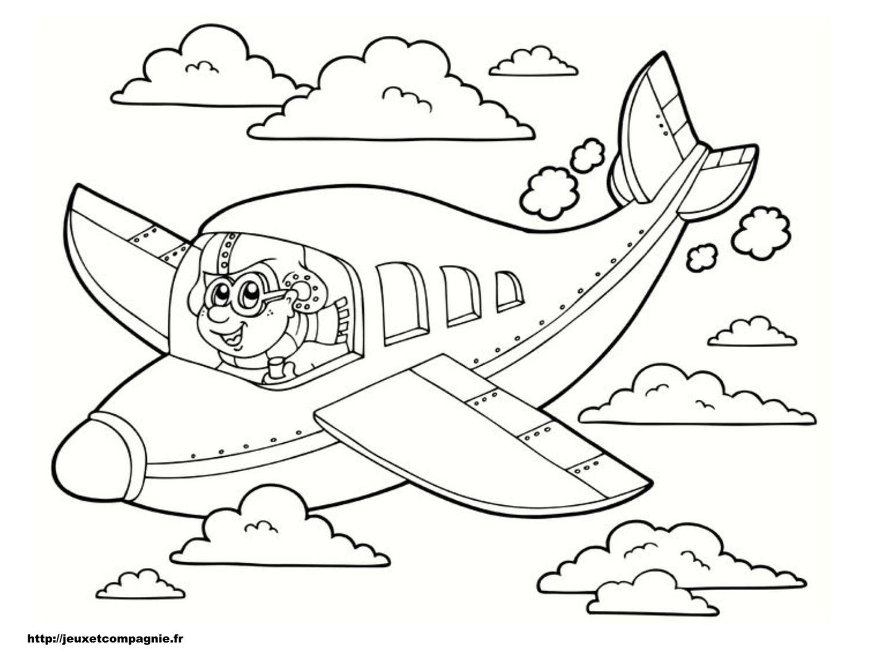 coloriage avion bebe