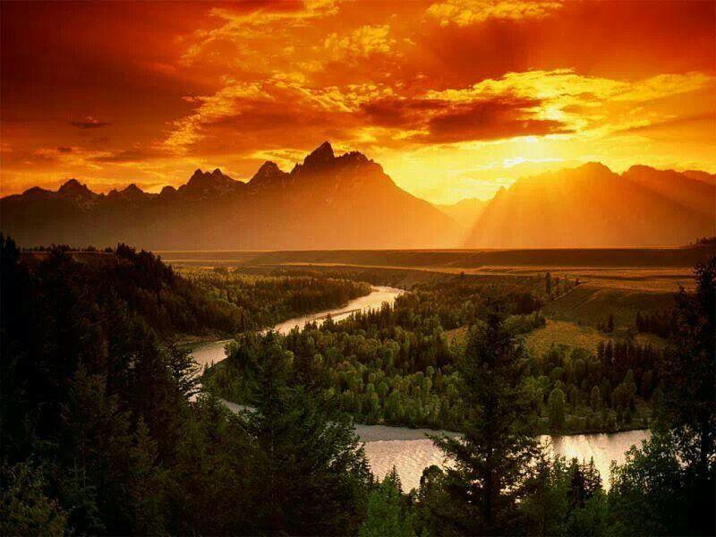 Sunset - Snake River, Grand Teton National Park, Wyoming