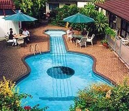 cool pools shaped like music guitar shaped swimming pool