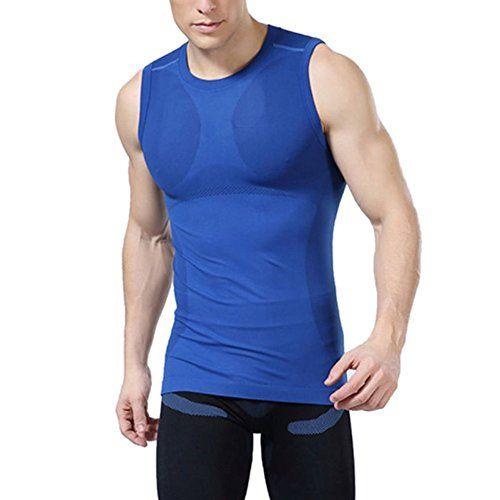 9c8016bd0104c7 ROPALIA Mens Compression Base Layer Top Tight Sleeveless T-Shirt Sport Vest