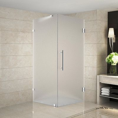 Aston Aquadica 38 X 72 Completely Frameless Square Hinged Shower Enclosure