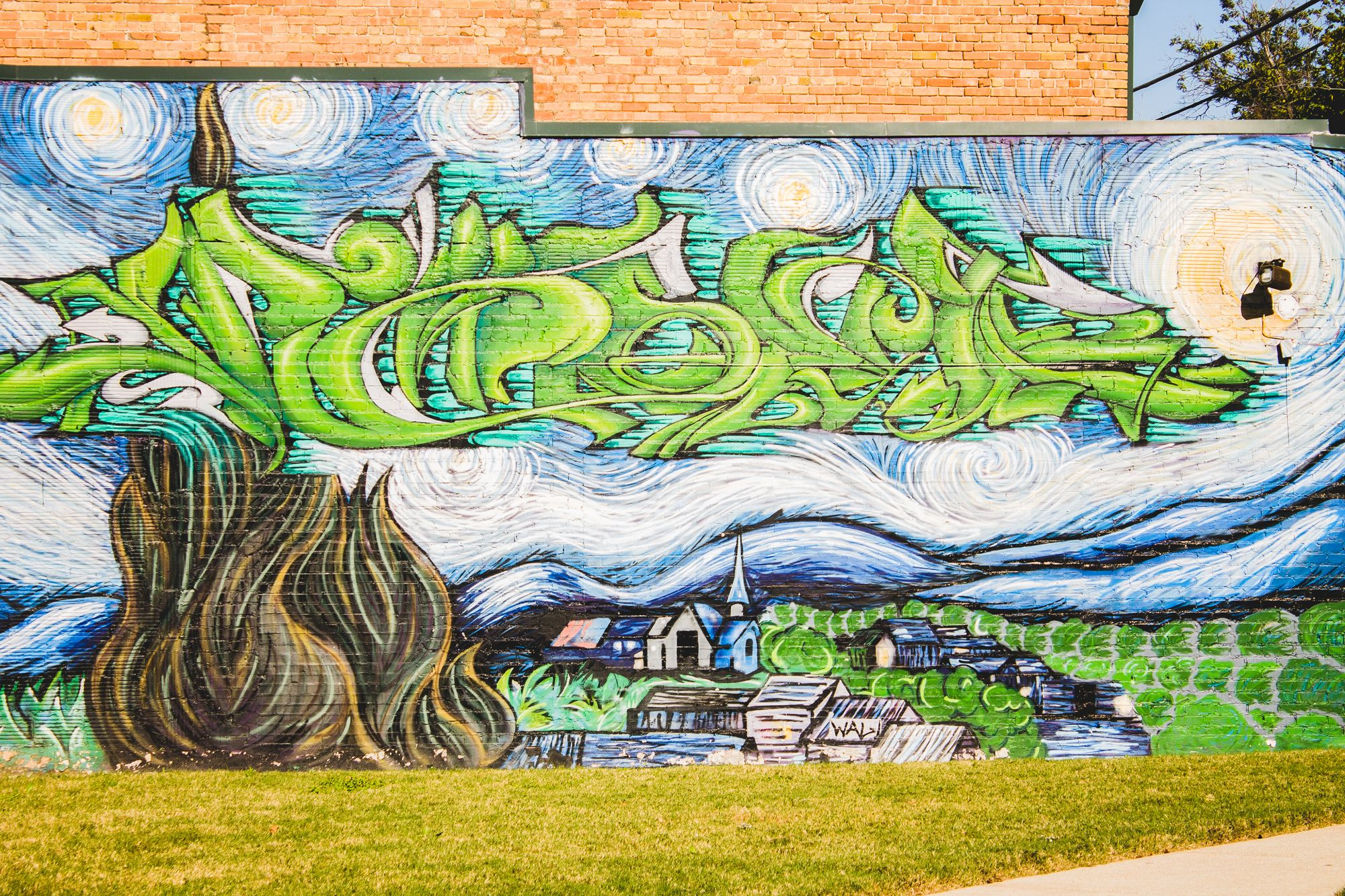 Graffiti wall dallas - Graffiti Wall On Main Street Stockyards Fort Worth