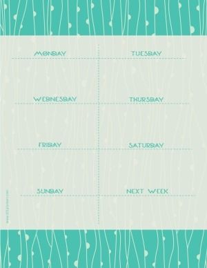 Free Printable Weekly Calendar Customize Online Before You Print Instant Download