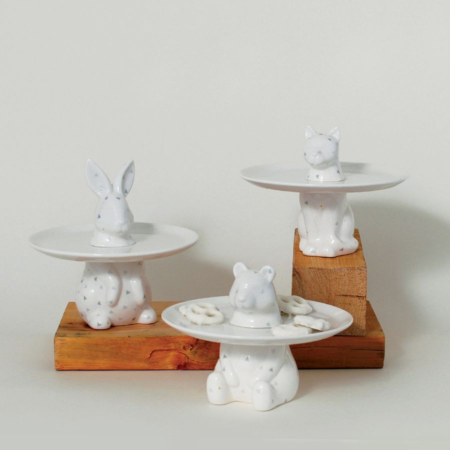 Menagerie Rabbit Decorative Serving Plate - Cake Stand Serving Trays Serving Platters \u0026 Cookie Platters & Menagerie Rabbit Decorative Serving Plate - Cake Stand Serving Trays ...