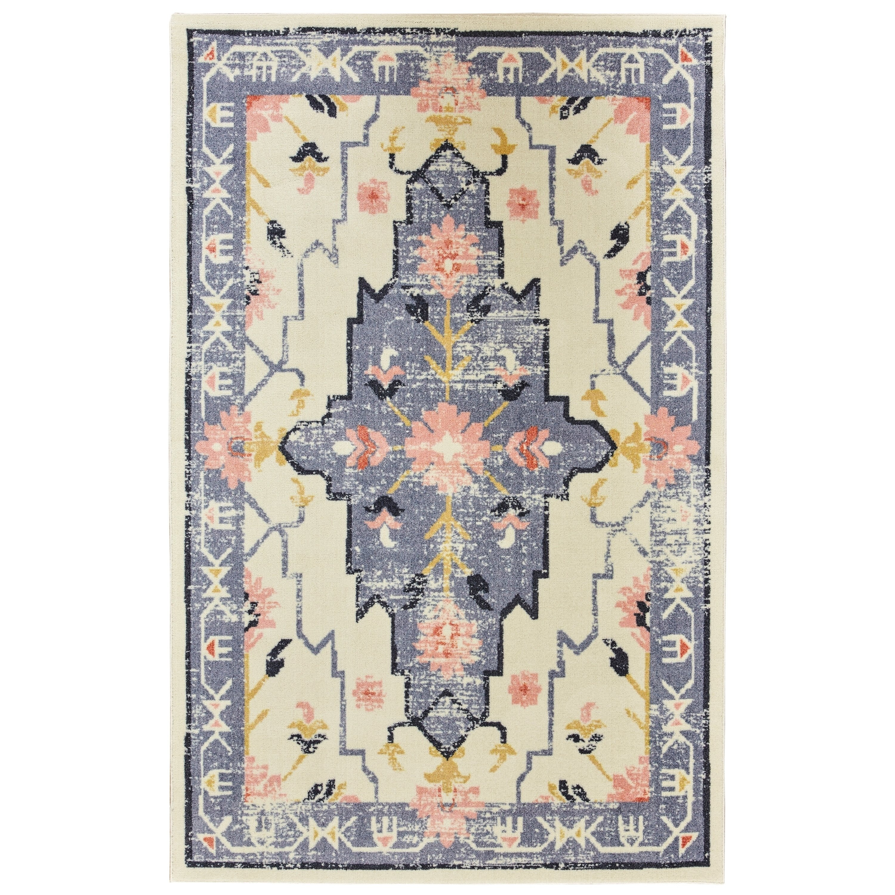 Copper Grove Sierra Vintage Southwestern Area Rug 8 X 10 Cream Ivory Products In 2019 Rugs Area Rugs Modern Area Rugs