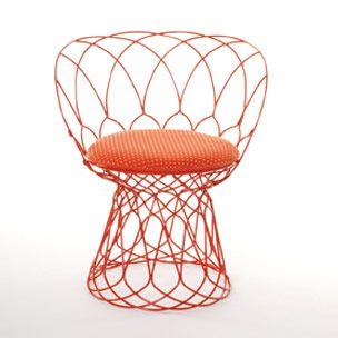 Metz Textil /& Design Violan Sitzkissen für Eames Side Chair orange       orange