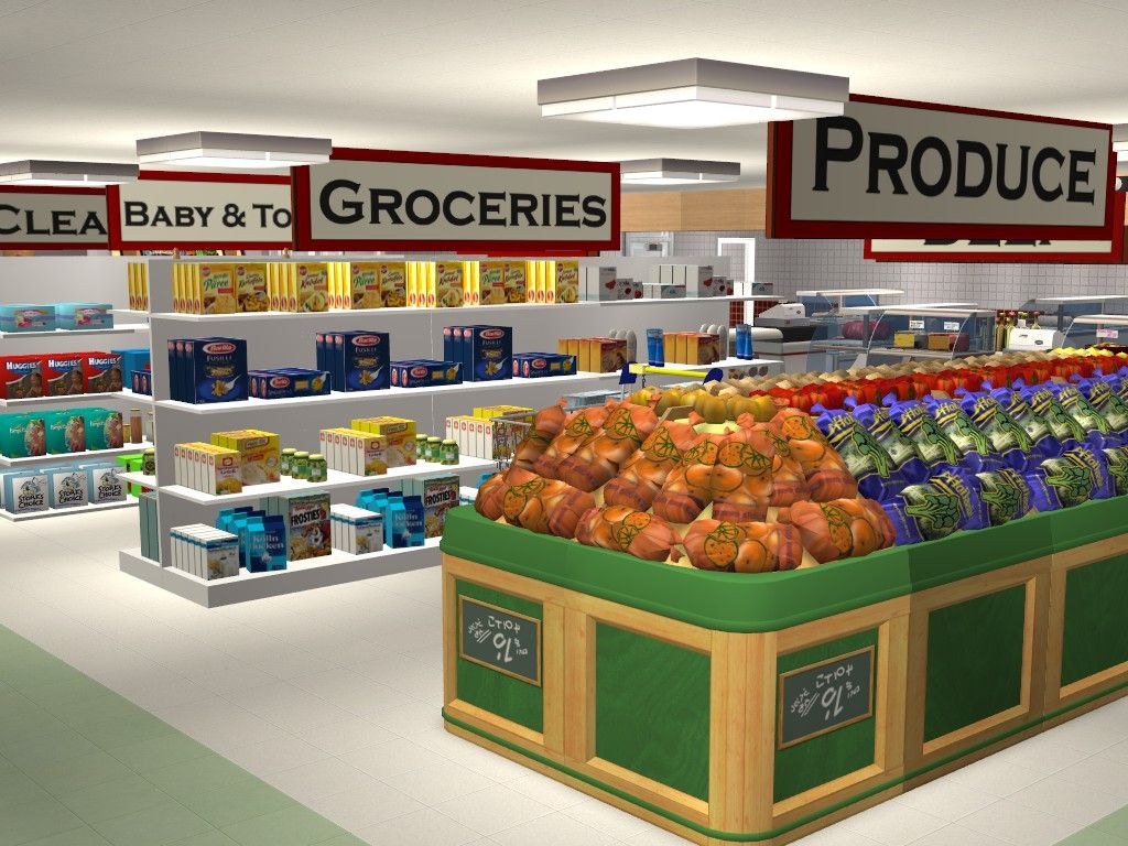 Mod The Sims Llama Foods Supermarket Sims 4 Restaurant The Sims 4 Lots Sims House Design