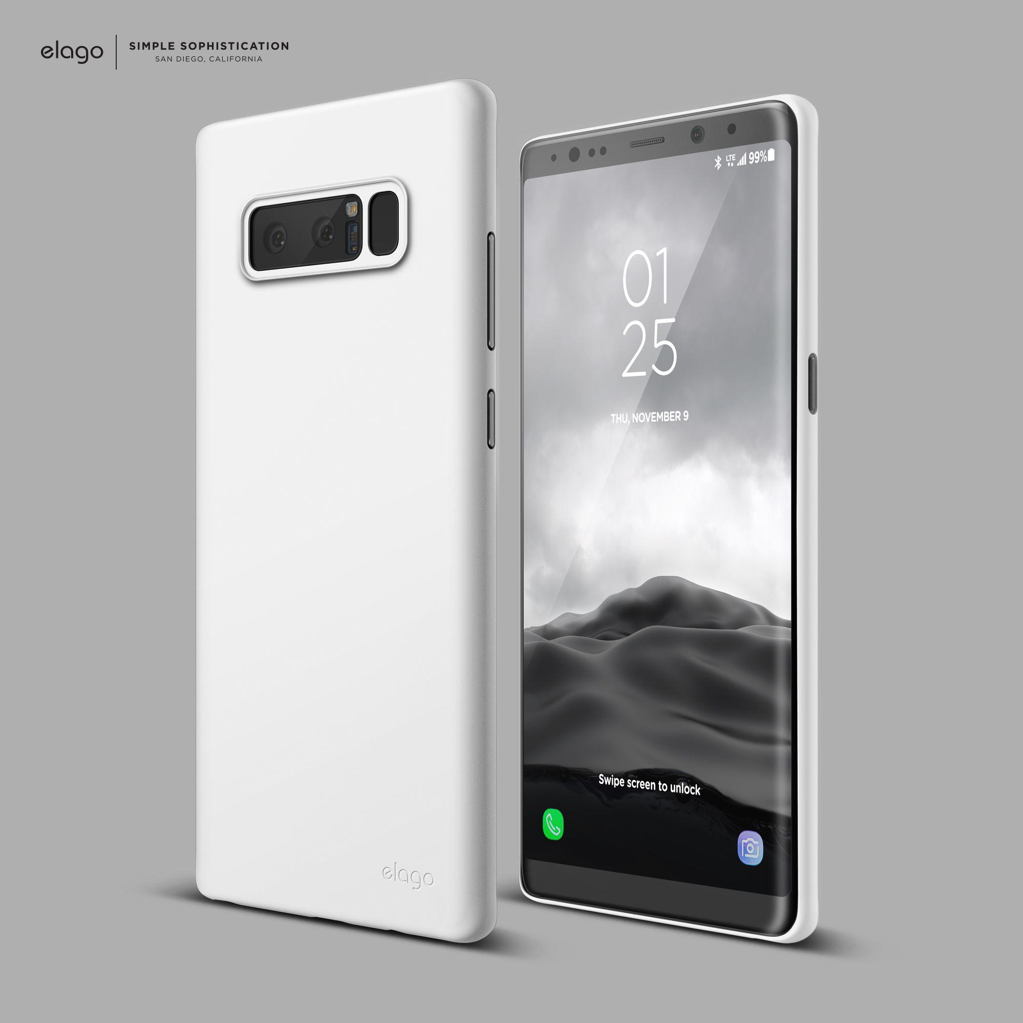 Coming soon, elago Galaxy NOTE 8 Origin Case White