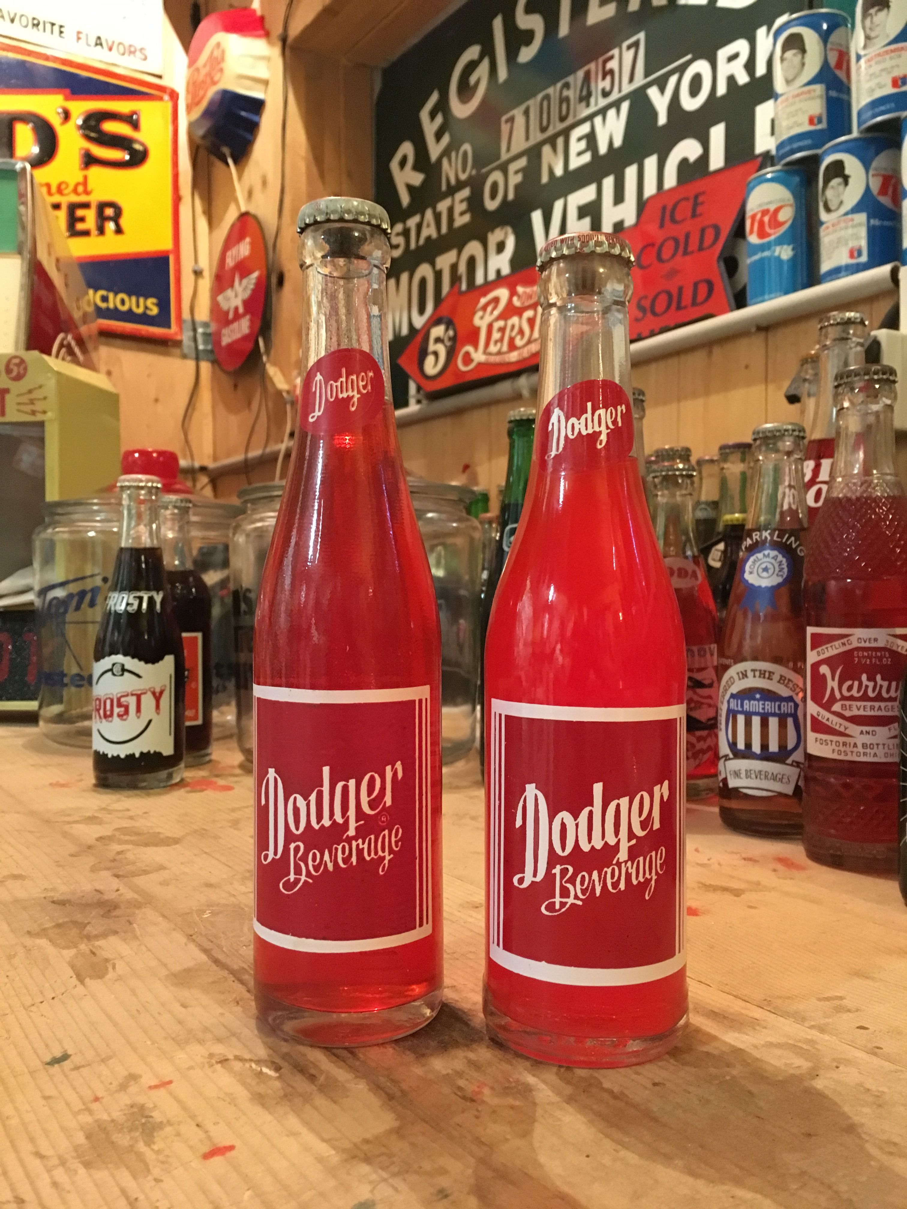 Vintage Dodger Beverage Soda Pop Bottle Full Pop Bottles Soda Bottles Soft Drinks