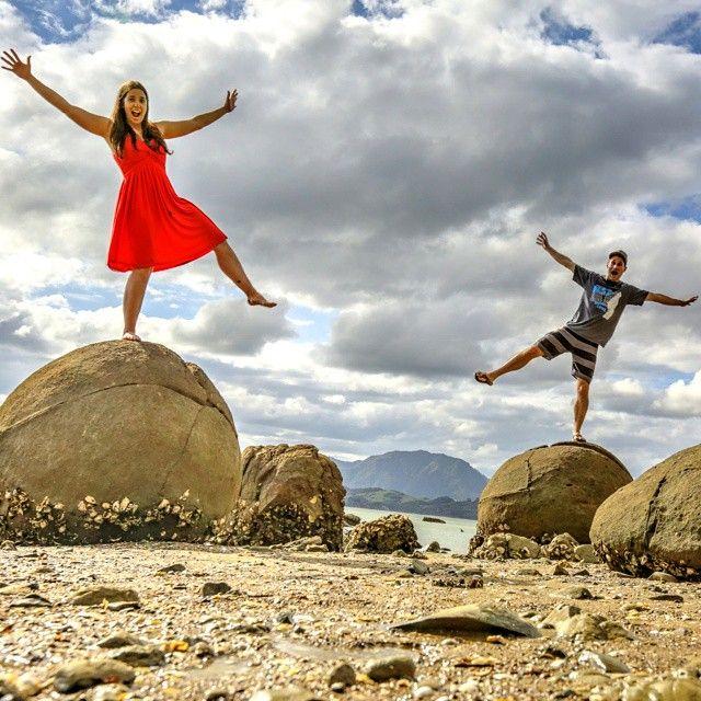Hokianga N.I. has crazy spherical Koutu Boulders similar to Moeraki Boulders