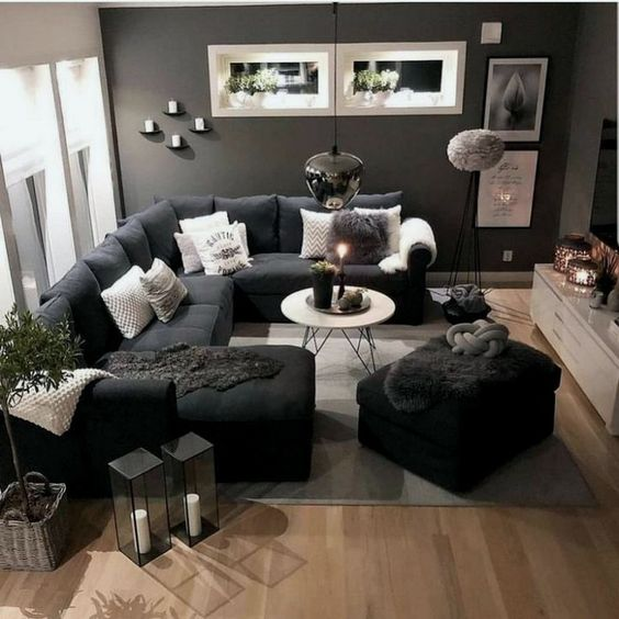 Gray Theme Room Design Ideas For Gorgeous And Elegant Spaces Color Gray Home Design Living Room Decor Apartment Small Living Room Decor Living Room Decor Cozy