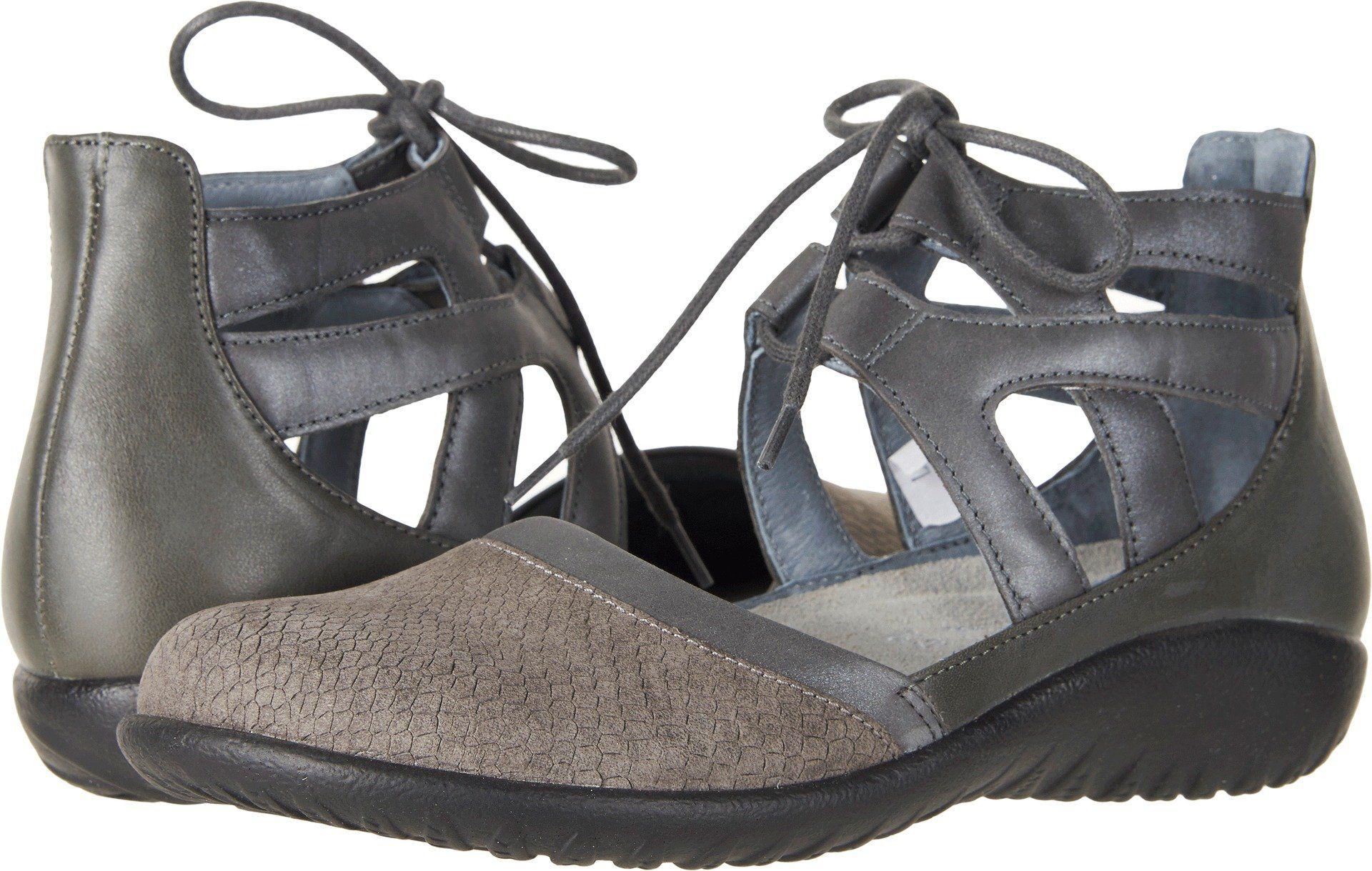 dccfa37e619c Naot Footwear Women s Kata Gray Iguana Nubuck Shadow Gray Nubuck Tin Gray  Leather 40