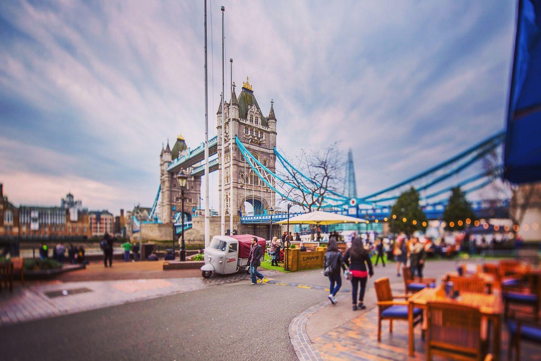 Miniature City Effect Created With Canon 17mm Ts E Lens By Employing Tilt Shift Adjustment Tower Bridge Tilt Shift Tower