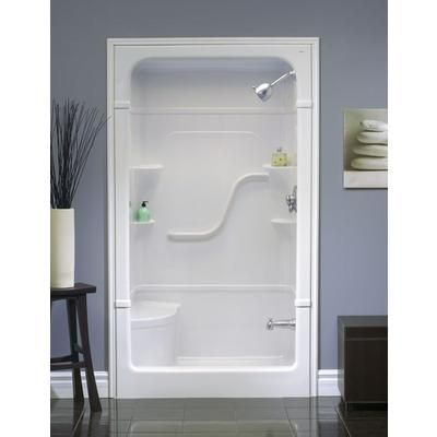 For basement bathroom   Mirolin   Madison 4 Shower Stall With Seat     Home  Depot Canada. handicapped fi erglass shower stalls   Kind of like mine except
