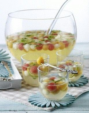 melonenbowle mit prosecco und minzlik r food drinks pinterest bowle getr nke und. Black Bedroom Furniture Sets. Home Design Ideas