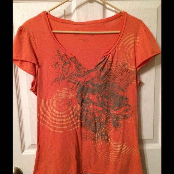 Orange tee Cute orange tee. Xl. Fits more like large Calvin Klein Tops Tees - Short Sleeve