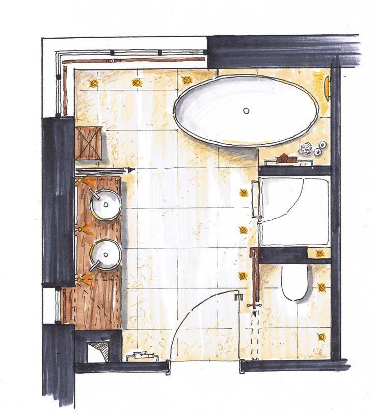 wc sur mur de droite douche plus grande baignoire centr e sous la fen tre 1 seul vier. Black Bedroom Furniture Sets. Home Design Ideas