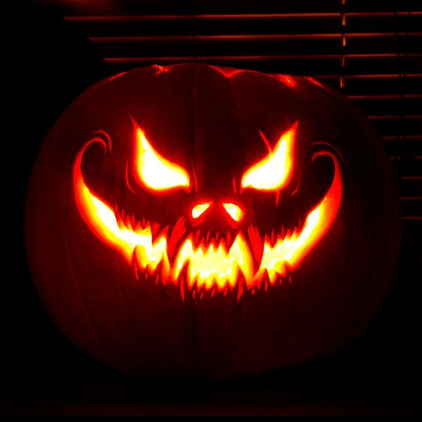 Halloween Easy Pumpkin Carving Ideas Scary Pumpkin face Patterns, Pumpkin  Carving Printable Templates, Pictures, Pumpkin Carving Designs - Scary  Halloween ...