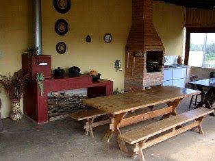 Outdoorküche Holz Joinville : Area de serviço com churrasqueira e fogão a lenha pesquisa google