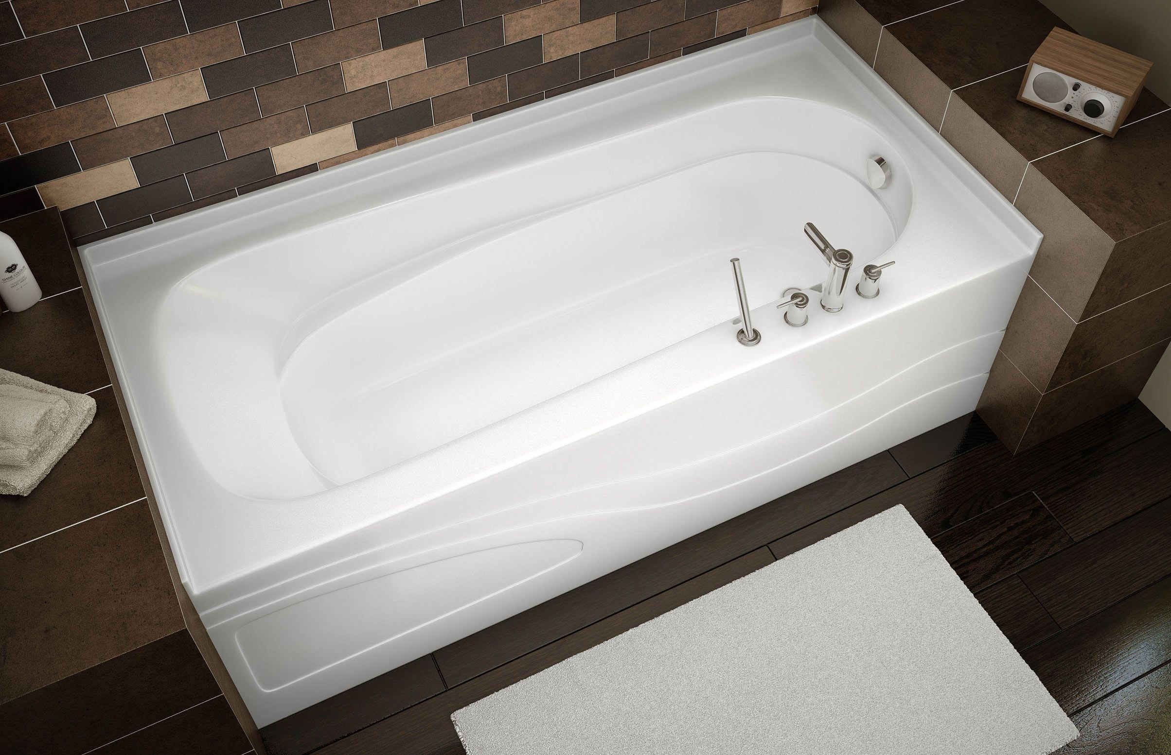 Pacific line plrea alcove bathtub maax professional for Alcove bathtub dimensions