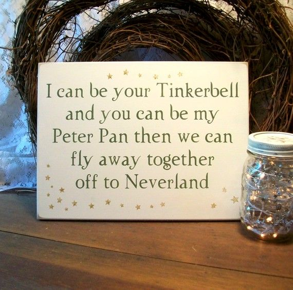 Wedding Bell Sayings: Peter And Tink...