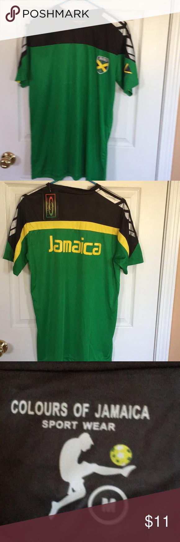 84ff986bc Men s Jamaica soccer short sleeve T-shirt Men s Jamaica short sleeve soccer  T-shirt