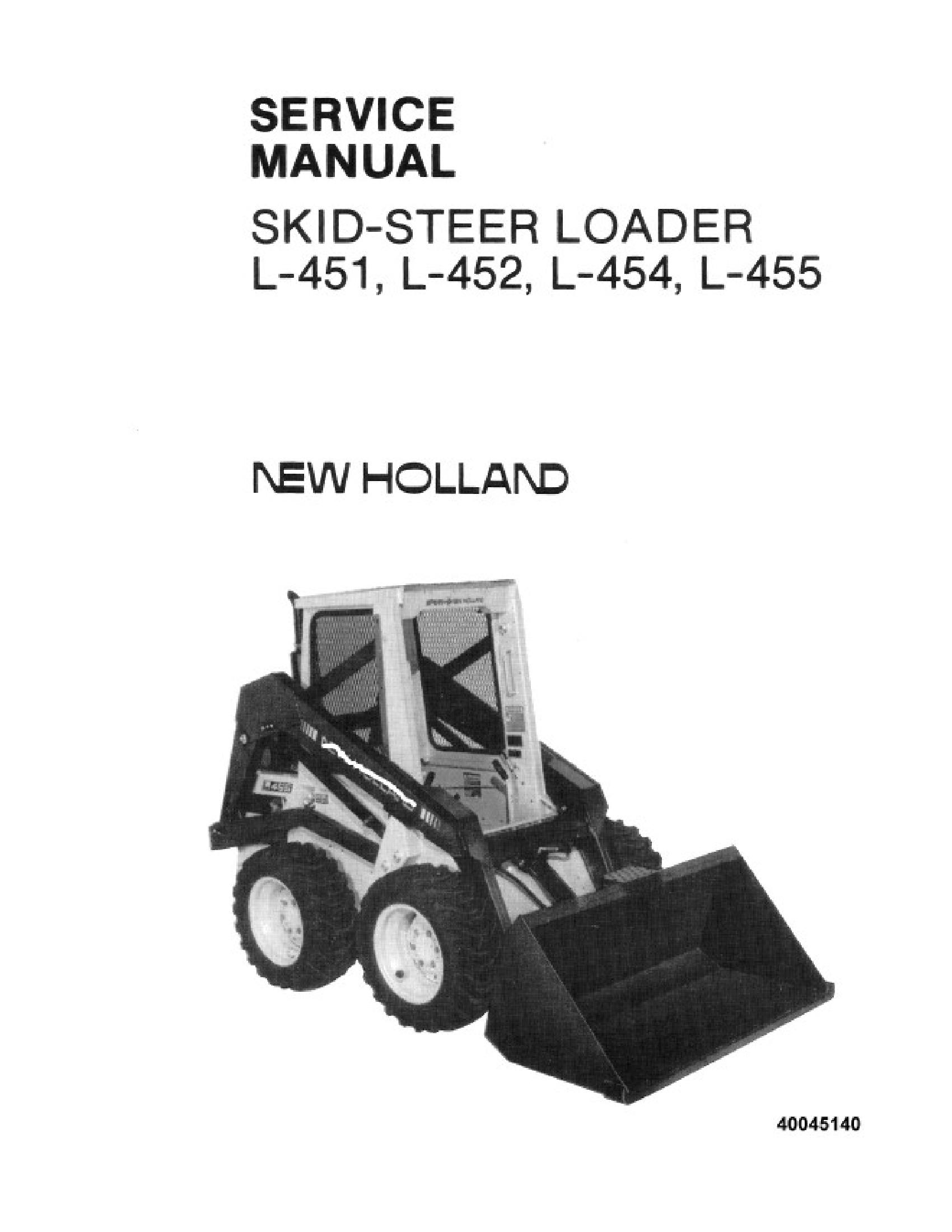New Holland L 451 Skid Steer Loader Manual In 2020 Skid Steer Loader New Holland Owners Manuals
